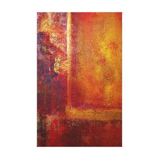 Lienzo Oro amarillo del rojo anaranjado de los campos de