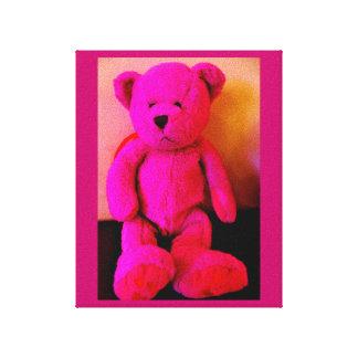 Lienzo Oso de peluche rosado