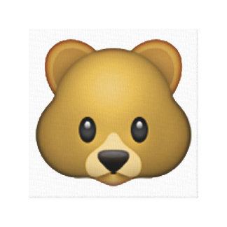Lienzo Oso - Emoji