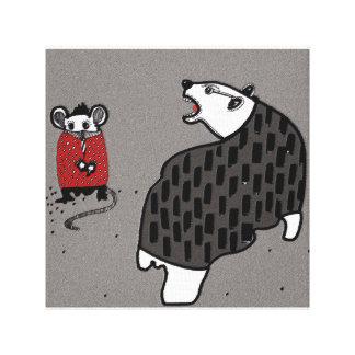 Lienzo Oso y ratón