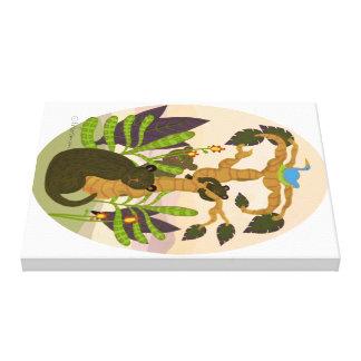 Lienzo Osos en selva: bosque imaginario que pinta 2