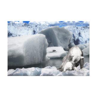 Lienzo Osos polares