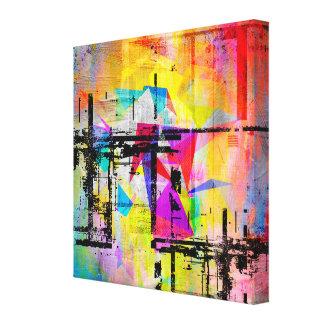 Lienzo Paisaje abstracto geométrico abstracto colorido