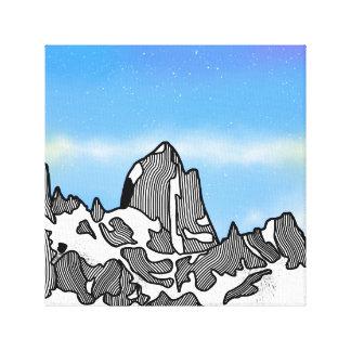 Lienzo Paisaje de la montaña de Monte Fitz Roy