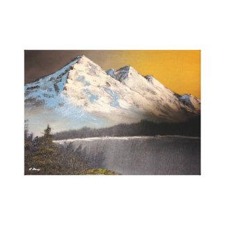 Lienzo Paisaje de la montaña Nevado