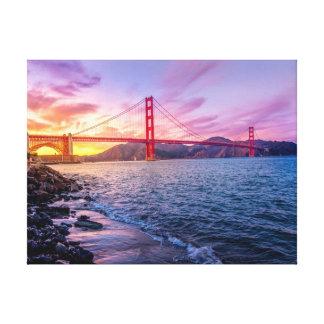 Lienzo Paisaje de puente Golden Gate el |