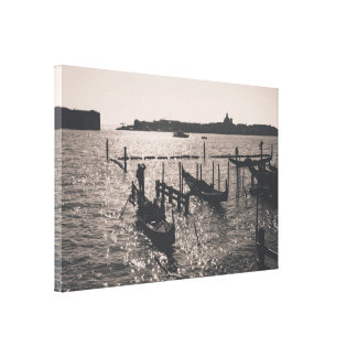 Lienzo Paisaje de Venecia en una imagen monocromática