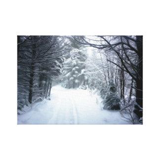Lienzo Paisaje del invierno