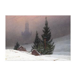 Lienzo Paisaje del invierno de Caspar David Friedrich