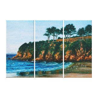 Lienzo Paisaje escénico de Francia de la playa rocosa de