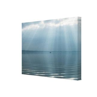 Lienzo Paisaje marino hermoso minimalista con las nubes