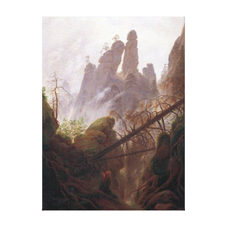 Lienzo Paisaje rocoso de Casper David Friedrich en el
