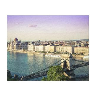 Lienzo Paisaje urbano de Budapest