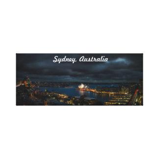 Lienzo Paisaje urbano tempestuoso de Sydney Australia en