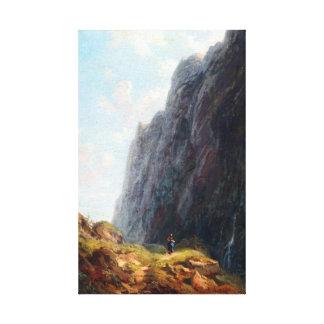 Lienzo Paisaje y lechera de la montaña de Carl Spitzweg
