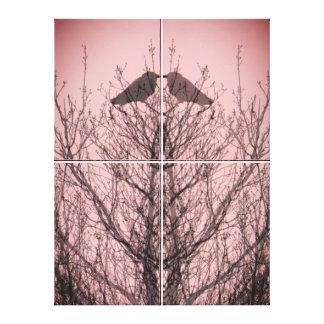 Lienzo Pájaros abstractos del amor del rosa de la
