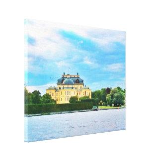 Lienzo Palacio de Drottningholm en Suecia