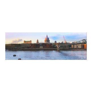 Lienzo Panorama de la catedral del St Pauls