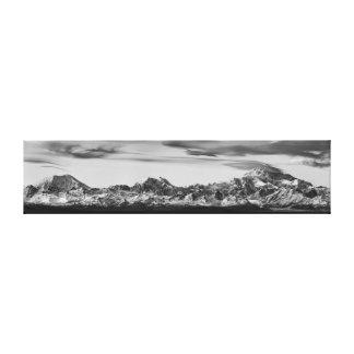 Lienzo Panorama de la gama de Alaska