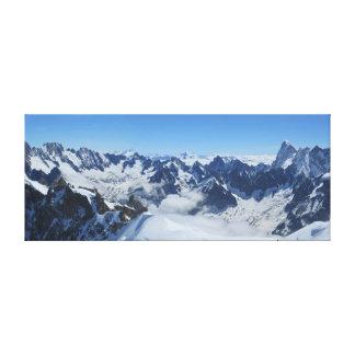 Lienzo Panorama francés de Chamonix de las montañas