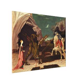 Lienzo PAOLO UCCELLO - San Jorge y el dragón 1470