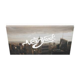 Lienzo Para el amor del poster tipográfico de Nueva York