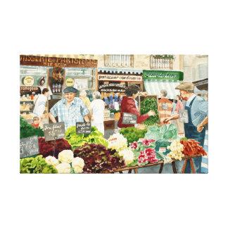 Lienzo Paradas del mercado, Dieppe