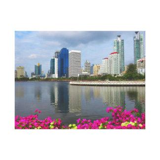 Lienzo Parque de Benjakiti en Bangkok