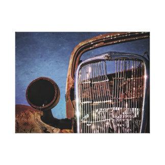 Lienzo Parrilla vieja oxidada del coche