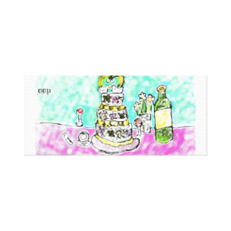 Lienzo pastel de bodas