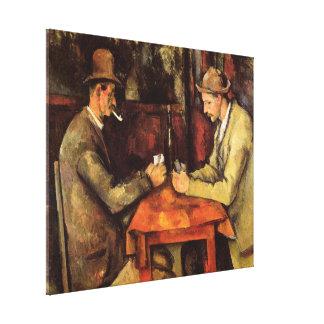 Lienzo PAUL CEZANNE - Los jugadores de tarjeta 1894