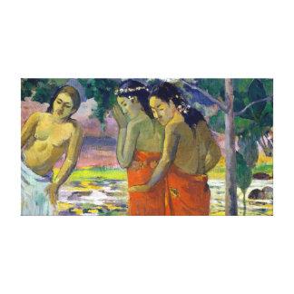 Lienzo Paul Gauguin tres mujeres de Tahitian