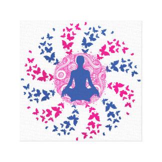 Lienzo paz interior positiva de la energía de la