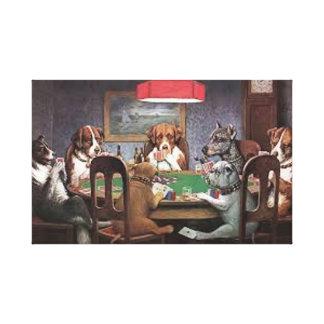 Lienzo Perros que juegan el póker