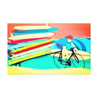 Lienzo Persona que practica surf en las tablas hawaianas
