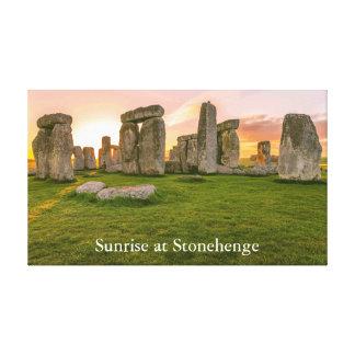 Lienzo Personlized Stonehenge legendario en la salida del