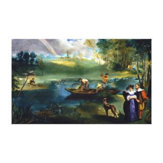 Lienzo Pesca de Édouard Manet