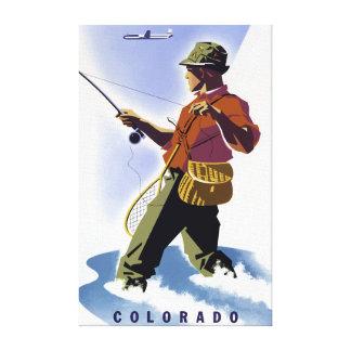 Lienzo Pesca del vintage en el viaje de Colorado