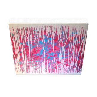 Lienzo Pintura abstracta original del salpicón del