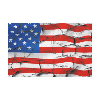 Lienzo Pintura agrietada llevada los E.E.U.U. americana