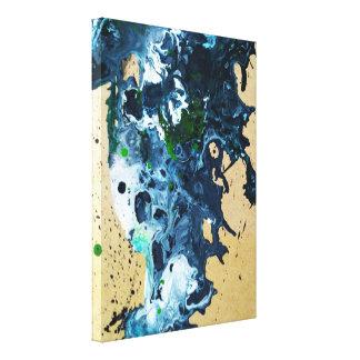 Lienzo pintura de acrílico flúida abstracta