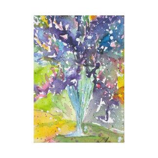 Lienzo Pintura de la acuarela del ramo floral de la