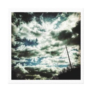 Lienzo Pintura de la nube