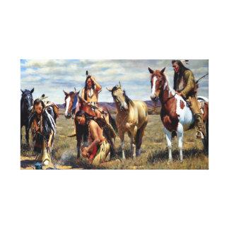 Lienzo Pintura del nativo americano