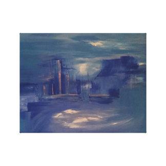 Lienzo Pintura del paisaje urbano