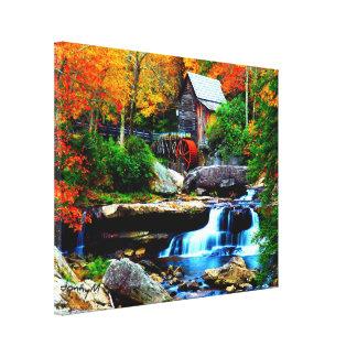 Lienzo Pintura hermosa del molino de Virginia Occidental