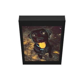 Lienzo Pintura negra de Labrador