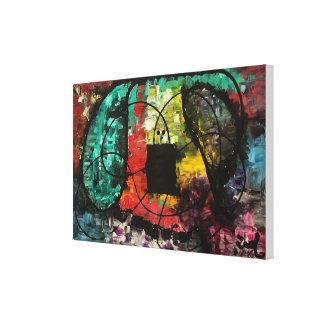 """Lienzo Pintura original abstracta """"estirada"""""""