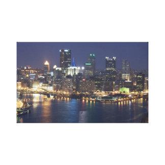 Lienzo Pittsburgh en la noche