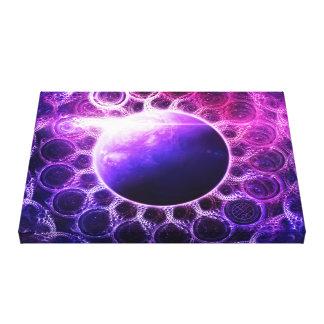 Lienzo Planeta ideal profundo violeta hermoso de la
